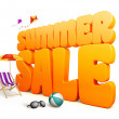 3D Dimensional Summer Sale Title Words in White Background — Stock Photo #67922827
