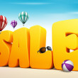 3D Dimensional Sale Title Words for Summer — Stock Photo #68016061