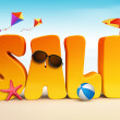 3D Dimensional Sale Title Words for Summer — Stock Photo #68016091
