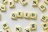 The german word Geld — Stock Photo
