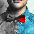 Dual male fashion portrait concept. Young and handsome hipster m — Stock Photo #54071257