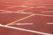 Running track rubber — Stock Photo