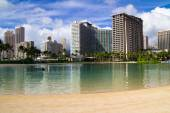 Waikiki Beach, Honolulu, Hawaii — Stock Photo