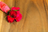 Valentines Red rose Abstract Background — Stock Photo