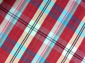 Plaid Cotton fabric of colorful background and abstract texture — Stock Photo