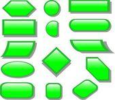 Groene knop — Stockvector