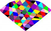 Color Diamond — Stock Vector