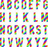 Alphabet Rainbow Style — Stock Vector