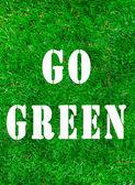 GO GREEN — Stock Photo