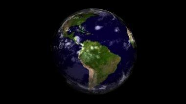 Globe in black — Stock Video