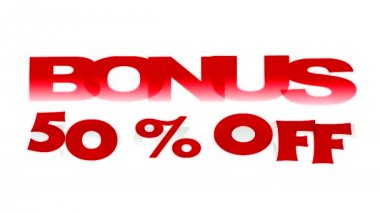 Bonus Off promotional sign — Stok video