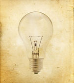 Light bulb on vintage — Stock Photo