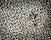 Metalowe krucyfiks na worek — Zdjęcie stockowe