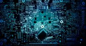 Electronic circuit grunge background — Stock Photo