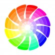 Color wheel from arrows — Stock Vector #51863291