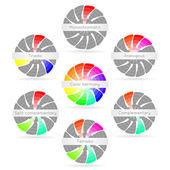 Color harmony combinations — Stock Vector