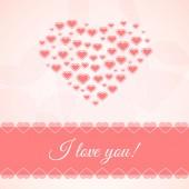 Carte de l'amour — Vecteur