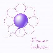 Flower balloon — Stock Vector