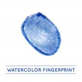 Vector isolated watercolor fingerprin — Vetorial Stock