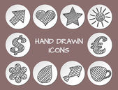 Set of hand drawn icons — Stock Vector
