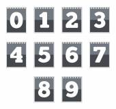 Number icons — Stock Vector