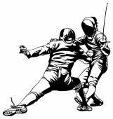 Fencing fight — Stok Vektör