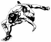 Greco-Roman wrestling — ストックベクタ