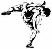 Grieks-romeins worstelen — Stockvector