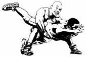 グレコローマン レスリング — ストックベクタ