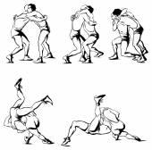 Lucha grecorromana — Vector de stock