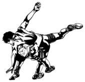 Greco-Roman wrestling — Stock Vector