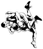 ελληνορωμαϊκή πάλη — Stockvektor