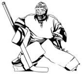 Gardien de but de hockey — Vecteur