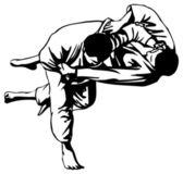Pelea de judo — Vector de stock