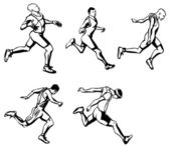 Male runners — Vecteur