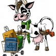 Cow Shoppers — Vector de stock  #53588133