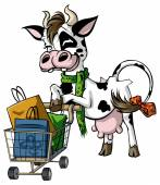 Cow Shoppers — Stock Vector
