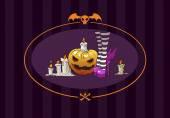 Halloween witch and pumpkin — Stockvektor