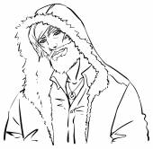 Trendy guy in the hood — Stock Vector