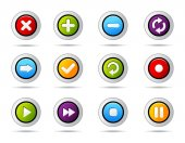 Icons set button — Stock Vector