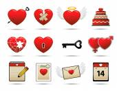 Icons set love — Stock Vector