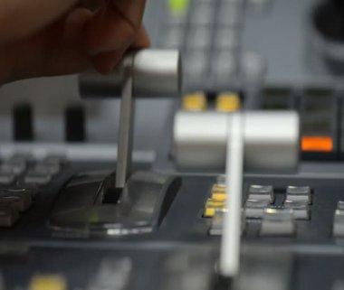 Video mixer equipment — Stock Video