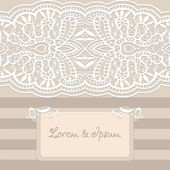 Abstract background, lacy frame border pattern, wedding invitation card design — Stock Vector