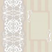 Abstract ιστορικό, δαντελωτές πλαίσιο συνόρων μοτίβο, γάμος πρόσκληση σχεδιασμό κάρτα — Διανυσματικό Αρχείο