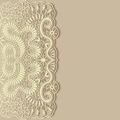 Lace invitation card — Stock Vector