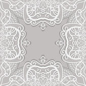 Lace invitation card — Stock Vector