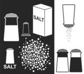 Salz. pfeffer — Stockvektor