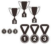 Trophy. Set — Stock Vector