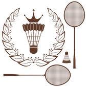 Badminton — Stock Vector
