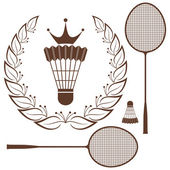 Badminton — Stock Vector